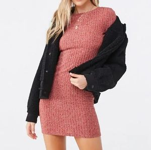 🆕 SUPER CUTE! FOREVER 21 BODYCON SWEATER DRESS M